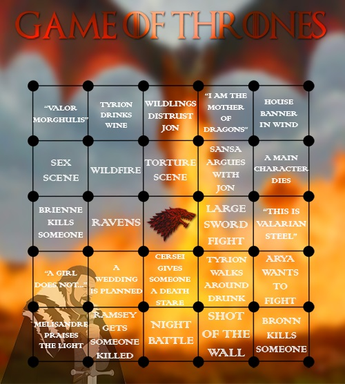 Play Bingo With These Fun Game Of Thrones Cards